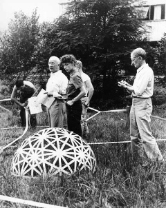 Buckminster Fuller and Ellen DeKooning at Black Mountain College